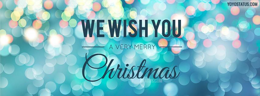 Bokeh Effect Merry Christmas FB Cover Photo