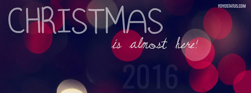 Captivating Christmas Is Here Coming Fb Cover Photo