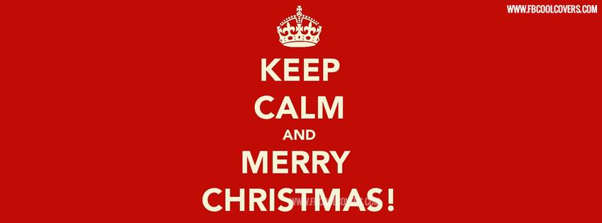 Keep Calm Christmas Facebook Cover