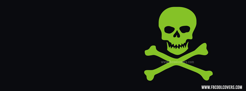 Danger Green Skull Fb Cover Attitude Cover Boys Cover
